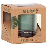 Feng Shui Candle Jar - Feng Shui Palm Wax Jar Candle, Wood Green 16 oz by Aloha Bay (Pack of 3)