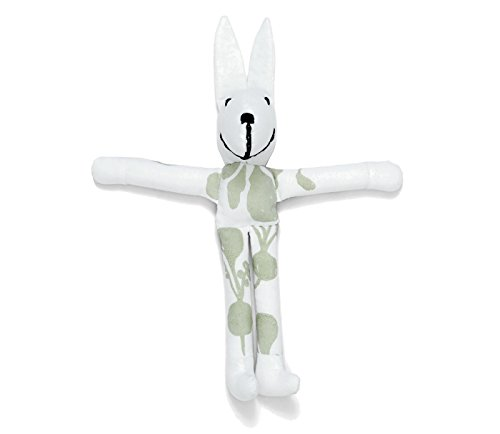 Lewis Organic Cotton Stuffed Bunny 100% GOTS Certified Organic Cotton, Willow ()
