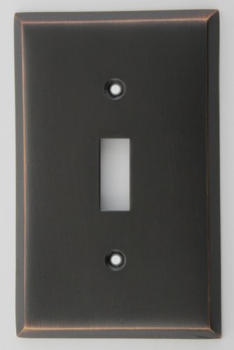 Classic Accents Oil Rubbed Bronze Single Gang Toggle Switchplate
