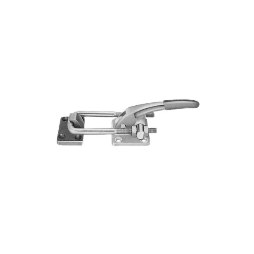 JW Winco Series 451 Steel Hook Type Toggle Clamp with Horizontal Mounting Base 1000-Pound Holding Capacity