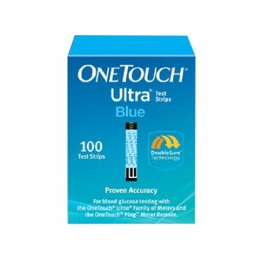 One Touch Ultra Blue Test Strips (100 Count) by One Touch Ultra