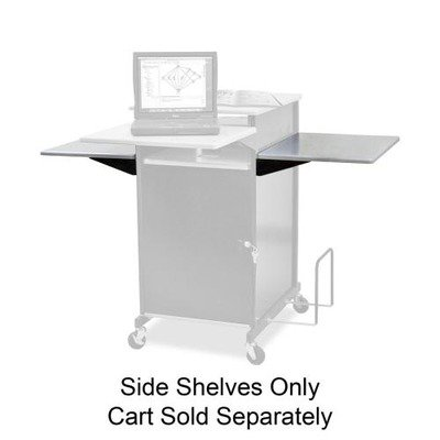 Balt Extra Wide Presentation Cart With Optional Shelf - (Presentation Cart Optional Shelf)