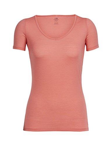 Icebreaker Merino Women's Siren Short Sleeve Sweetheart Neck Undershirt, Merino Wool
