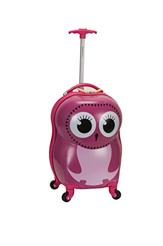 Rockland Jr. Kids' My First Luggage-Polycarbonate Hard Side Spinner, OWL