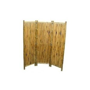 Bamboo 3 Panel Folding Privacy Screen Kitchen
