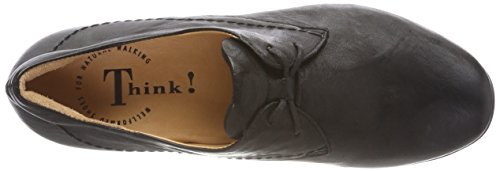 donna Nero Think Chilli 00 Scarpe Schwarz stringate fB4BCW