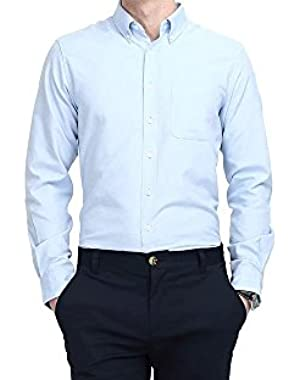 Men's Dress Shirts Business Casual Classic Formal Button Down Shirts