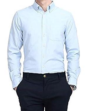 Men's Dress Shirts Business Casual Classic Formal Button Down Shirts