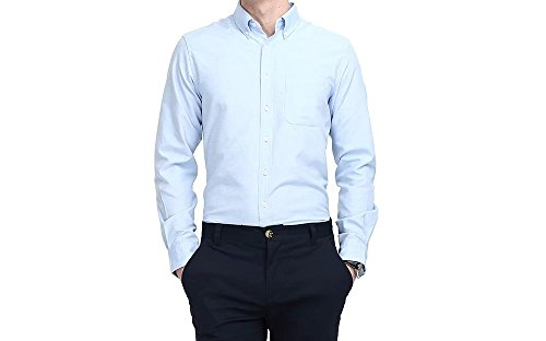 Mens-Dress-Shirts-Business-Casual-Classic-Formal-Button-Down-Shirts