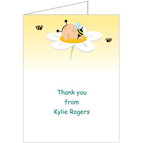 Neutral Adorabug Baby Thank You Cards - Set of 20