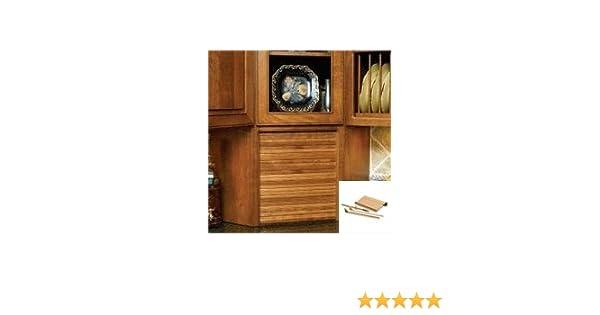 Amazon 24 Wide Tambour Door Kit Maple Kitchen Storage And