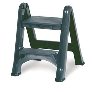 Rubbermaid Commercial 4209 EZ Step Folding Stool, 2-Step, Gray by Rubbermaid Commercial Products