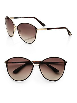 Tom Ford Sunglasses Women TF 320 Brown 28F Penelope - Ford Rose Gold Tom