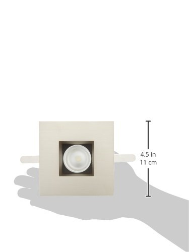 LED 2-Inch Open Square Trim WAC Lighting HR-2LED-T709F-35BN Tesla 3500K 45-Degree Beam Angle