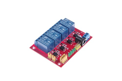 KNACRO DC 5V 4-Channel Relay Module Optocoupler Isolation High-Low Level Trigger Optional for SCM Expansion Board TTL PLC Control