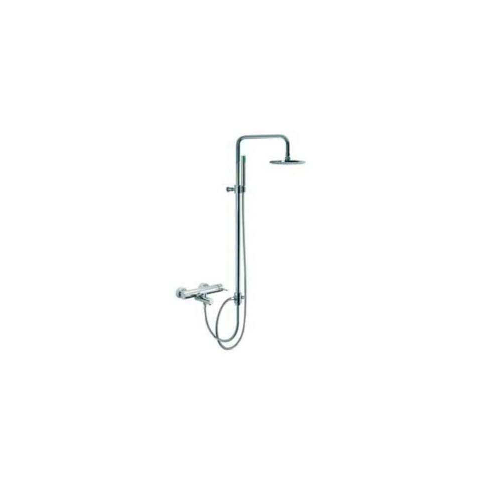 Fima by Nameeks S3224 2SN Brushed Nickel Spillo Wall Mounted Tub Faucet with Rainhead and Hand