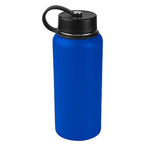 Royal Blue Metal - Tahoe Trails 32 oz Double Wall Vacuum Insulated Stainless Steel Water Bottle, Royal Blue