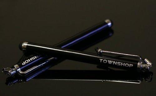 Townshop[TM] For Samsung Galaxy Avant G386 (T-Mobile) Extreme Rugged Blue/Black Dual Layer Heavy Duty Impact Armor Hybrid Kickstand Phone Case Cover + Townshop[TM] Stylus Pen