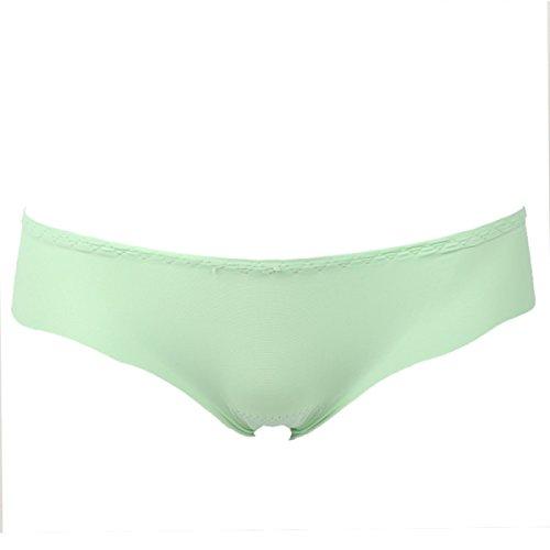 POKWAI Hipster Breve Ropa Interior De Nylon Spandex De Las Mujeres Atractivas Green