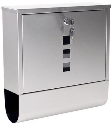 3002 Designer Edelstahl Briefkasten Postkasten Wandbriefkasten Zeitungsbox Kasten
