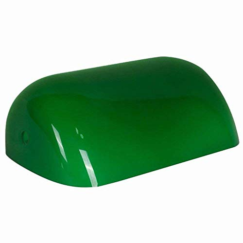 AOWIN Green Glass Bankers Lamp Shade Replacement Cover, 8 2/3