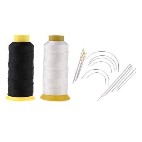 IPOTCH 縫い針セット 厚地縫い用針 200m ミシン糸 ボンディング ナイロン ヘビーデューティ キャンバス用の商品画像