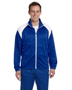 Harriton Mens Tricot Track Jacket>XL TRUE ROYAL/WHITE M390 (Harriton Mens Tricot Track)