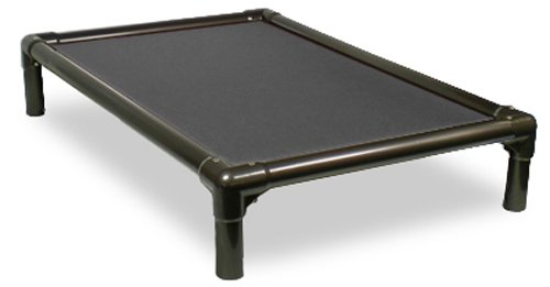 Kuranda Walnut PVC Chewproof Dog Bed - Large (40x25) - Cordura - Smoke