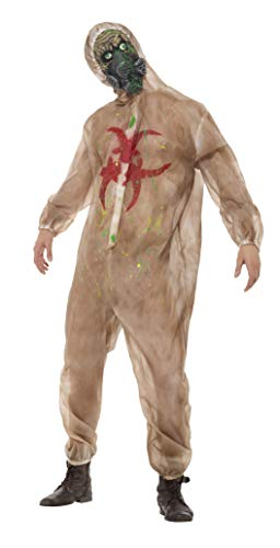 Smiffys Men's Zombie Biohazard Costume, Brown, Medium]()