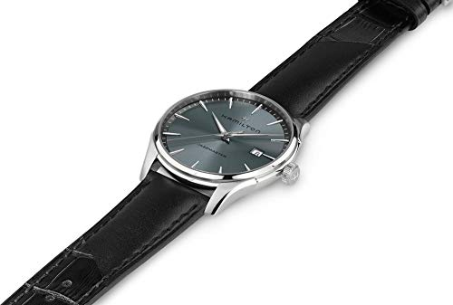 Hamilton Jazzmaster Quartz Grey Dial Black Leather Men's Watch H32451742
