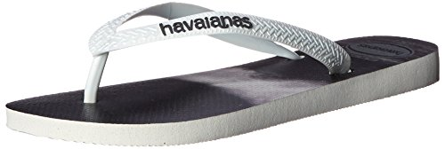 Havaianas Men's Hype Flip Flop, White/White/Grey, 39 EU/8 M US