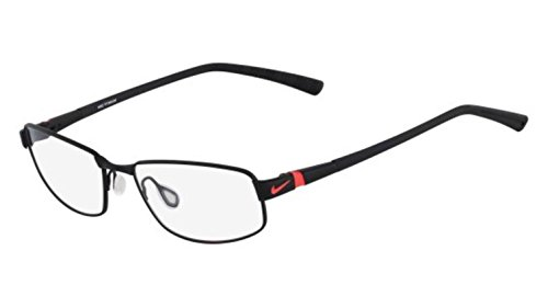 6056 Eyeglasses - NIKE Eyeglasses 6056 004 Satin Black/Laser Crimson 56MM