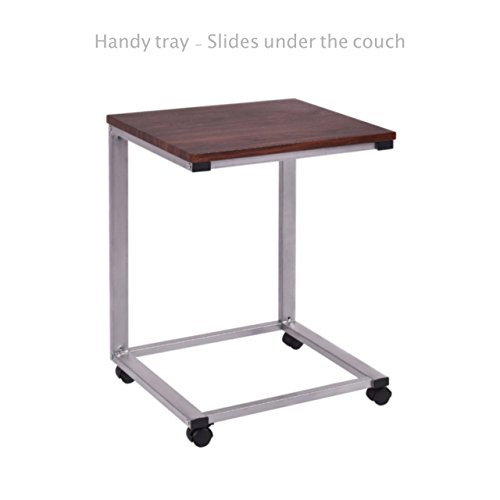 Sofa Side End Coffee Tray Rolling Table Overbed TV Snack Laptop Stand PC Desk Study Iron Frame Home office Decor Furniture #1817