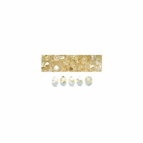 Preciosa 3mm Czech Crystal Diamond/Bicone Bead, Crystal Blonde Flare, 144-Piece Shipwreck Beads 80CC851