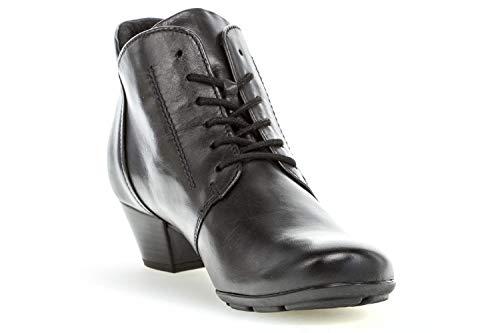 631 Schwarz 95 Glattleder Gabor Women Lace up Boots 78xEYqx