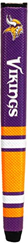 Team Golf NFL Minnesota Vikings Golf Putter Grip with Removable Gel Top Ball Marker, Durable Wide Grip & Easy to Control