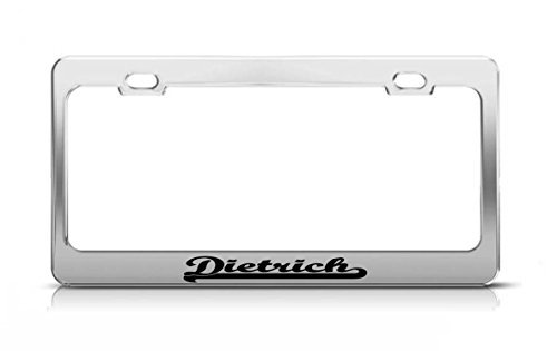 Framing Dietrich Metal - Dietrich Last Name Ancestry Metal Chrome Tag Holder License Plate Cover Frame License Tag Holder