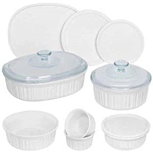 Best Epic Trends 31wam9y0wYL._SS300_ Corningware French White 12-Piece Round and Oval Bakeware Set
