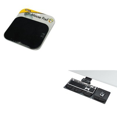 KITFEL58024FEL8036101 - Value Kit - Fellowes Professional Executive Adjustable Keyboard Tray (FEL8036101) and Fellowes Polyester Mouse Pad (FEL58024) - Executive Adjustable Keyboard