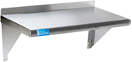 AmGood Stainless Steel Wall Mount Shelf. NSF Certified (30