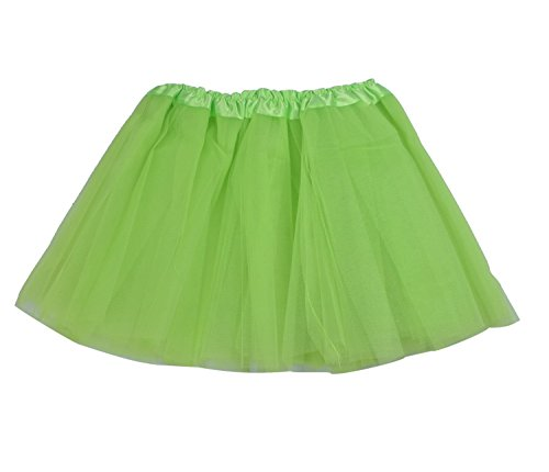 SUNNYTREE Neon Green Tutu for Toddler Ballet Skirts Dance Party Dress Green