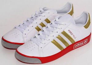 finest selection bcb46 d9358 adidas Originals FOREST HILLS VIN G97804 ColourWhiteGold SIZEUK9 EU43 1