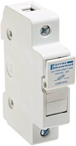 Price comparison product image Mersen USM UltraSafe Modular Fuseholder,  1 Pole,  For 1000VDC,  100kA DC,  32 Ampere,  Photovoltaic Fuse