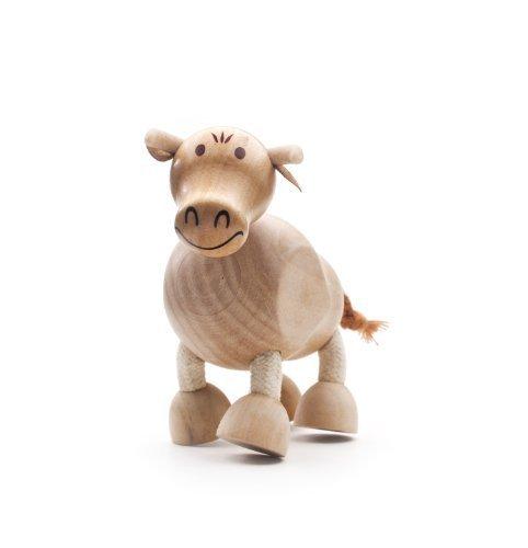 AnaMalz Wooden Bull Figure by anamalz Anamalz Bull