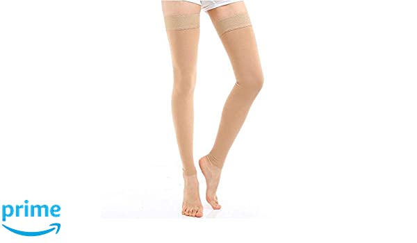 Eforstore Womens Compression Medical Socks 20-30 mm Thigh for Varicose Veins Pregnancy Edema Care