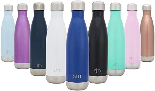 (Simple Modern Stainless Steel Vacuum Insulated Double-Walled Wave Bottle, 25oz - Pacific Blue)