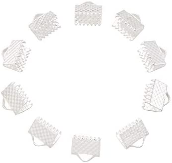 10 pcs ribbon ends  cord ends  ribbon end 6x21mm  silver  EK036
