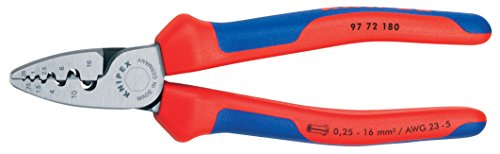 KNIPEX 97 72 180 Comfort Grip Crimping Pliers For Cable Links