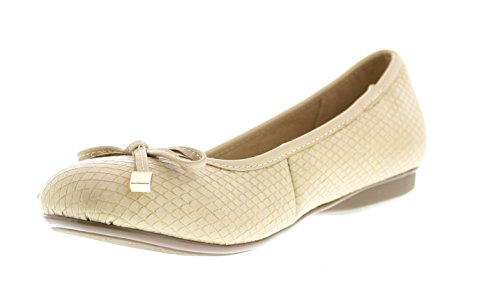 Gold Toe Women's Malorie Dual Density Memory Foam Comfort Ballet Flat With Arch Support (8W, Tan) (Tan Metallic Ballet Flats Shoes)