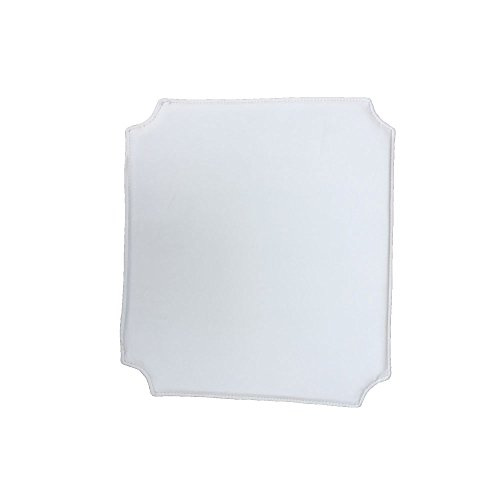 (jinchan Wishbone Chair Cushion PU (Bicast Leather X 4 PCS (White))